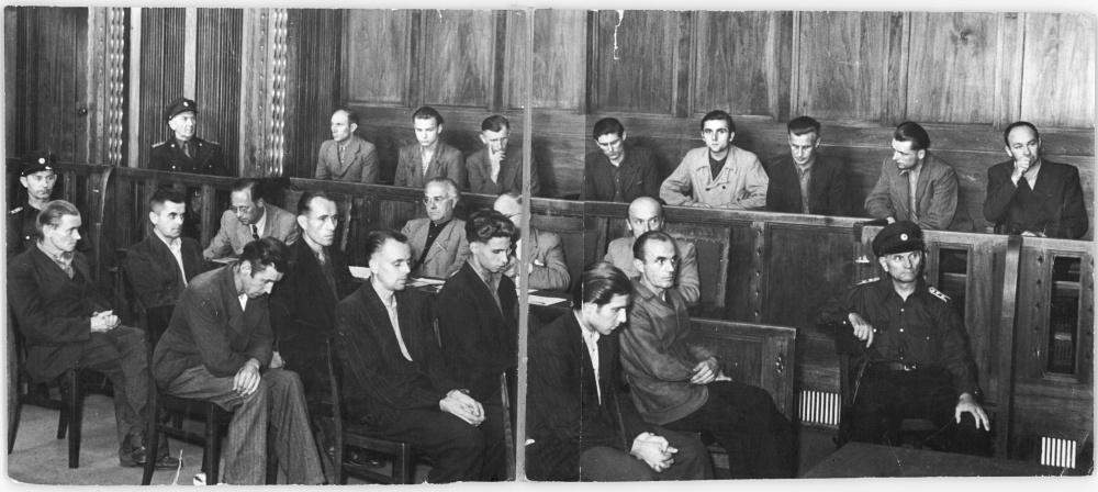 Die Angeklagten vom 25. Juni 1953 in Dresden