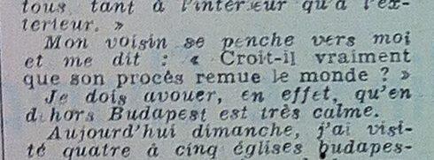 Von der Schuld der Angeklagten überzeugt, Auszug aus einem französischen Zeitungsartikel