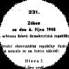 Gesetz Nr. 231/1948 Sb.