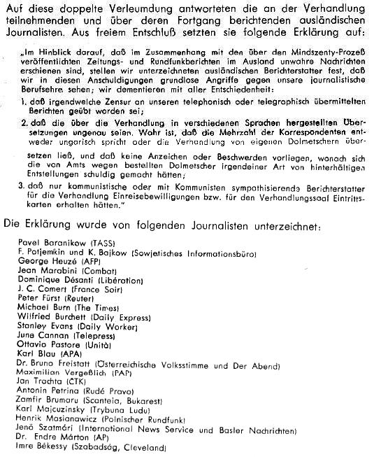 Erklärung der Auslandsjournalisten